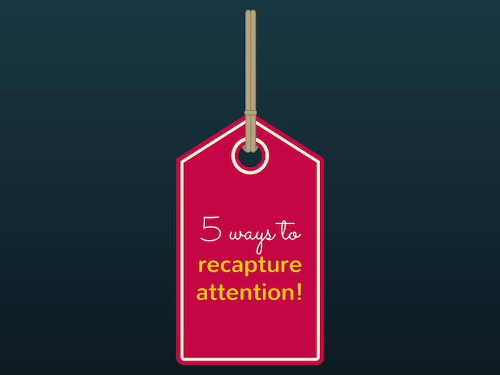 Red tag with text, 5 Ways to Recapture Buyer's Attention